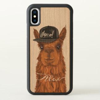 Alpaca legal e engraçada com um chapéu do