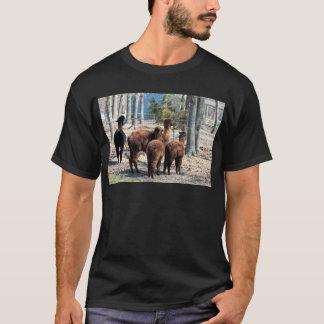 Alpaca peludo Behinds de Brown Tshirts