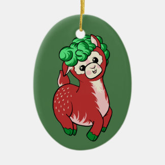 AlpacaBerry! Ornamento De Cerâmica