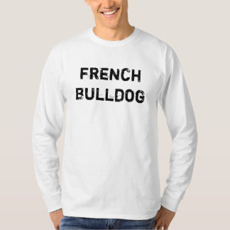 alpargata long cavalheiros French Bulldog (signors Camiseta