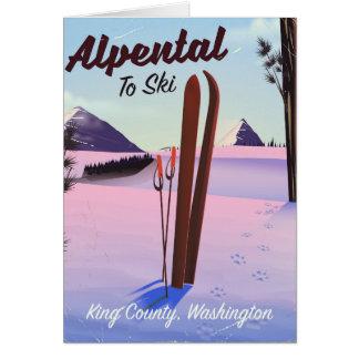 Alpental posudo do esqui de King County, Cartão