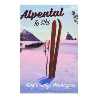 Alpental posudo do esqui de King County, Papelaria