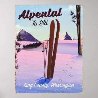 Alpental posudo do esqui de King County, Poster
