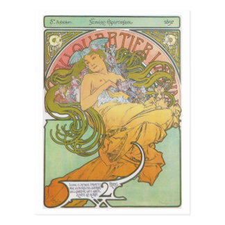 Alphonse Mucha - cartão do latino de Quartier do