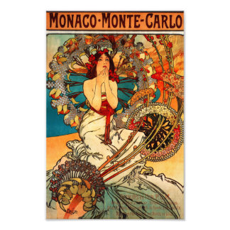 Alphonse Mucha Monte - impressão de Carlo Foto