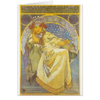 Alphonse Mucha - princesa Hyacint Cartão