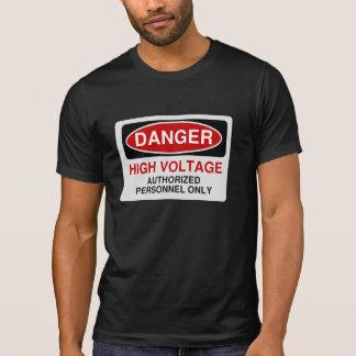 Alta tensão do perigo tshirt