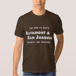Altamont & camisa do logotipo da estrada de ferro t-shirts