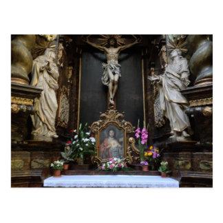 Altar no cartão de Praga