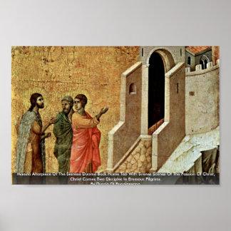 Altarpiece de Maestà do domo de Sienese Poster
