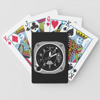 Altímetro dos aviões baralhos de pôquer