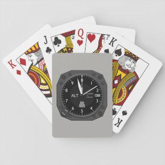Altímetro dos aviões jogo de carta