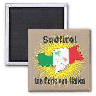 Alto Adige - Alto Adige Itália - Italia íman Ímã Quadrado