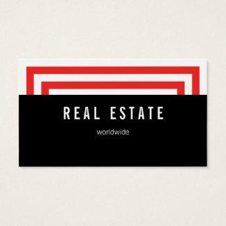 Alto e vermelho cartão de visitas