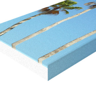 Alto palmeiras na lona envolvida impressão em canvas