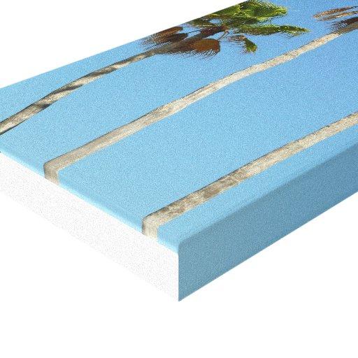Alto, palmeiras na lona envolvida impressão em canvas