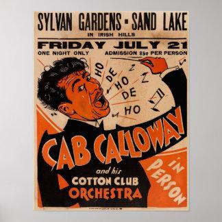Alugueres 1933 do poster do concerto de Cab