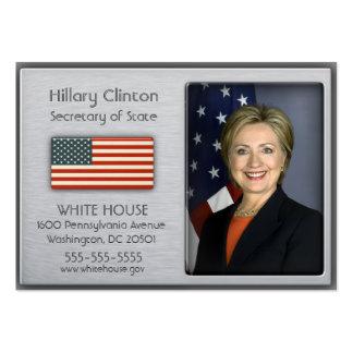 Alumínio escovado com os cartões de visitas da ban