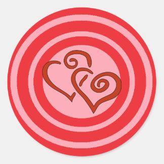 Alvo do amor adesivo redondo