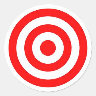 Alvo vermelho do Bullseye Adesivo