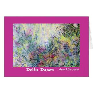 Alvorecer do delta cartão comemorativo