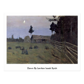 Alvorecer por Levitan Isaak Ilyich Cartão Postal