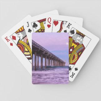 Alvorecer roxo sobre o cais, Califórnia Jogo De Carta