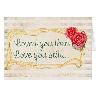 Amado lhe ame-o então ainda cartão