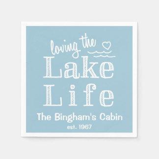 Amando a vida do lago personalizada guardanapo de papel