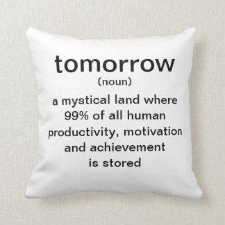 Amanhã (substantivo) uma terra mystical onde 99% d travesseiro de decoração