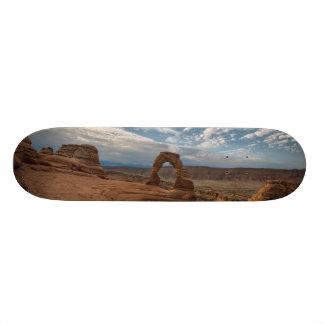 Amanhecer no arco delicado shape de skate 18,1cm