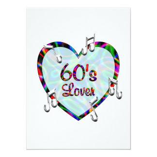 amante 60s convite personalizado