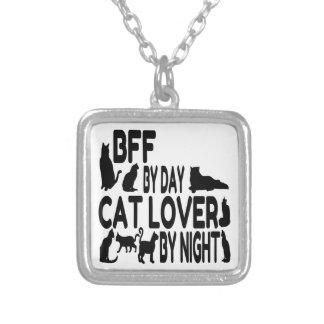 Amante BFF do gato Colar Banhado A Prata