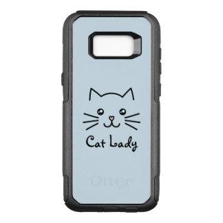 Amante bonito do gato da cara do gato do gatinho capa OtterBox commuter para samsung galaxy s8+