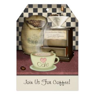 Amante Café do café personalizado Convite
