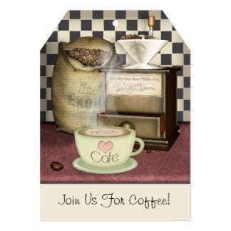 Amante Café do café personalizado Convite 12.7 X 17.78cm