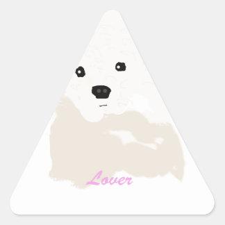 Amante da caniche adesivo triangular