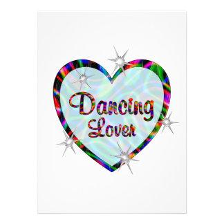 Amante da dança convites personalizado