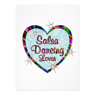 Amante da dança da salsa convites personalizados