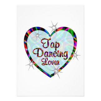 Amante da dança de torneira convite personalizados