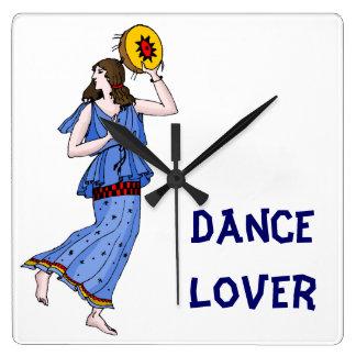Amante da dança relógios de pendurar