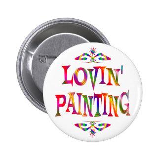 Amante da pintura bóton redondo 5.08cm