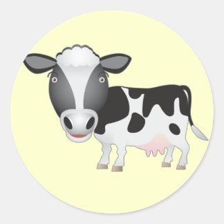 Amante da vaca adesivos redondos
