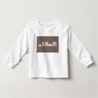 amante de livro! t-shirt longo da luva