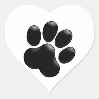 Amante do animal de estimação! Impressão da pata Adesivo Coração