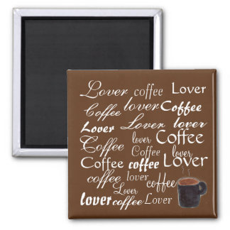 Amante do café - ímã ímã quadrado