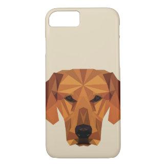 Amante do cão - baixo poli - capa de telefone