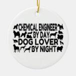 Amante do cão do engenheiro químico ornamento para arvores de natal