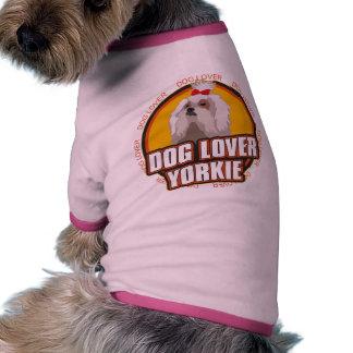 Amante do cão do yorkshire terrier camisetas para caes