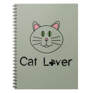 Amante do gato caderno espiral